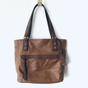 Fossil Molly Shopper Tote Bag Brown Leather